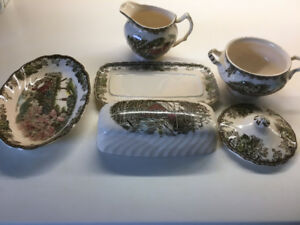 "Set of Johnson Bros. ""The Friendly Village"" Dishes"