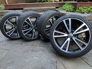 """Vision V alloy wheels c/w 18"""" summer tires - set of 4"""
