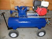 13 H.P. Honda powered compressor