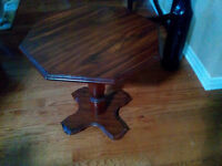 Table suitable as end table or stand alone corner table
