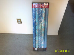 Christmas Wrapping 5 Rolls New Never Used Never Opened