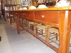 meubles antique table réfectoire, bureau, table de travaille et+ Saguenay Saguenay-Lac-Saint-Jean image 3