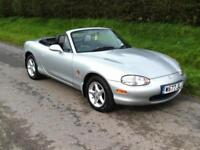 2000 MAZDA MX-5 1.8i MK2 CONVERTIBLE, SILVER, ALLOYS, LONG MOT