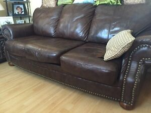 Leather Couch and Chair for sale