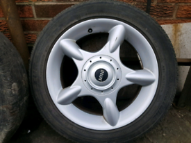 Set of 4 Mini alloys wheel rim 16 inch one cooper