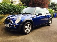 2002 02 BMW Mini One 1.6, Metallic Blue, Lovely Condition, Service History, Low Miles For Year