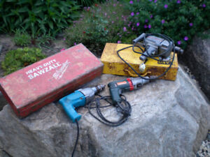 INDUSTRIAL 1/2 HAMMER DRILLS, AND SAWZALL