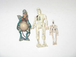 3 DIFFERENT OLDER STAR WARS TOY ACTION FIGURES