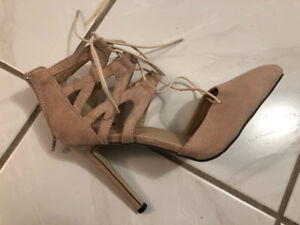 Women's NEW high heel stiletto ankle lace up shoes size 8