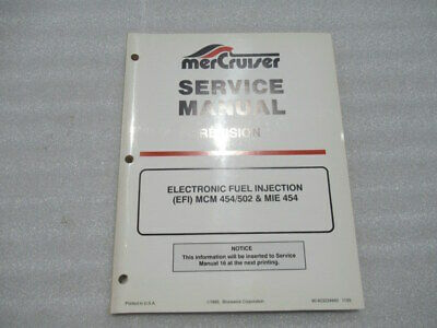 Mercury Revision Electronic Fuel Injection 454/502 Service Manual 90-823224940