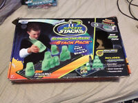 Glow in the Dark Speed Stacks with Mat and Hand Timer.   Orlean