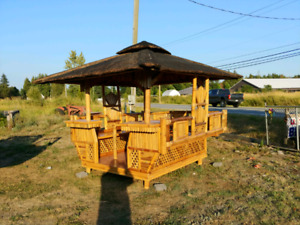 Brand new bamboo gazebo
