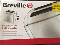 Breville 2 slice stainless steel toaster Brand NEW in sealed box