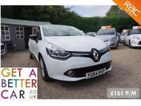 Renault Clio Energy White - 64 Reg - 48K - £161 PM - NO DEPOSIT CAR FINANCE