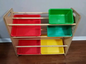 Storage rack for kids shoes etc.