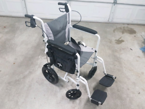 New Medline Deluxe Aluminum Transport Chair