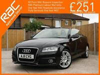 2011 Audi A3 1.2 TFSI S Line 6 Speed Convertible Cabriolet Electric Soft Top Ful
