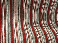 10 ft by 13 ft red stripy carpet brand new