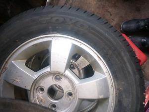 4 x toyo eclipse tires on rims 185/65 R14