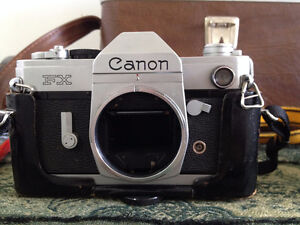 Vintage Canon FX Camera Collection with Custom Leather Bag Cambridge Kitchener Area image 5