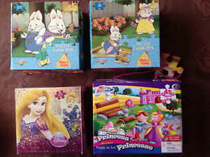 8 Puzzles for Girls ages 3+