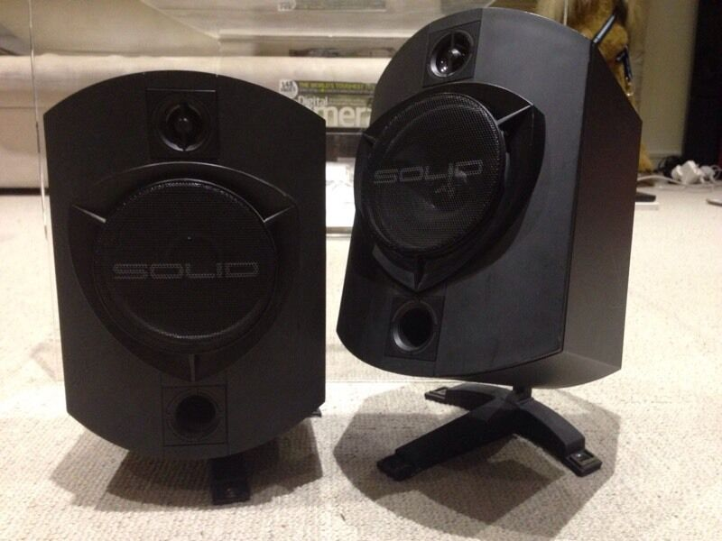 B & W Rock solid sounds 150 watt(rms) speakers