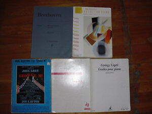 5 books for piano keyboards sonatas beethoven hamelin etc...