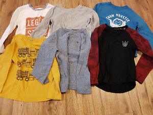 5T - Boys Long sleeved shirts lot - LRG / Roots / Old Navy