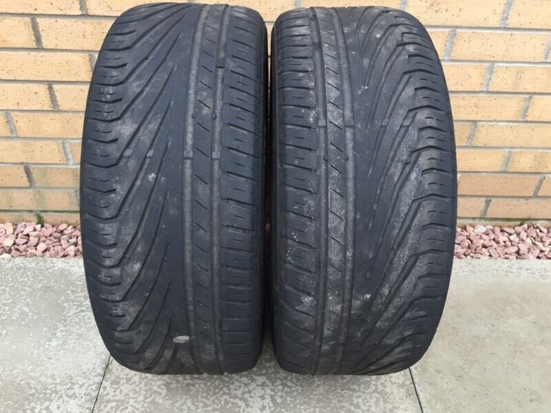 2x uniroyal rainsport 3 225 50 17 tyres in dunfermline fife gumtree. Black Bedroom Furniture Sets. Home Design Ideas