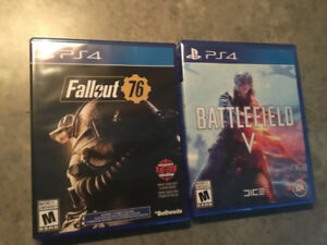 Fallout 76 and Battlefield V for the ps4 40 dollars each