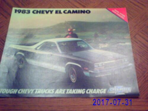 1983  Chevrolet  El  Camino  Original  Sales  Catalog