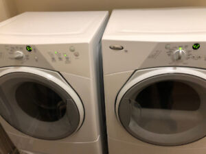 whirlpool front load washer dryer w/h 2 pedestals drawers sale