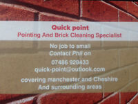 Quick point. Pointing and brick clean specialist