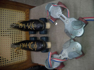 TWO Pair Child roller skates - One antique the other good to use