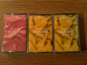 Brand new sealed Brahms and Tchaikovsky audio tapes cassettes