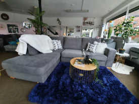 NEW Hampton Grey Left Hand Corner Sofa DELIVERY AVAILABLE