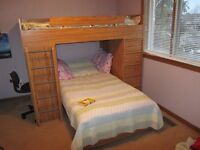 Bunk Bed With Desk And Dresser.