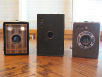 Lot of Antique Box Cameras