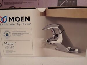 **NEW** MOEN SINGLE HANDLE BATHROOM FAUCET