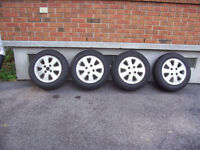 Honda Prelude Mag Wheels with Winter Tires