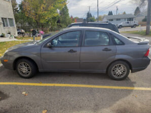 2007 Ford Focus, with snow tires.