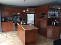 Armoire de cuisine et ilot