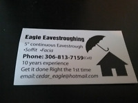 """5"""" continuous eavestroughing"""