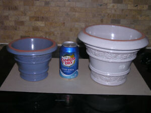 Indoor or Outdoor New Unused Glazed Clay Flower Pots Planters