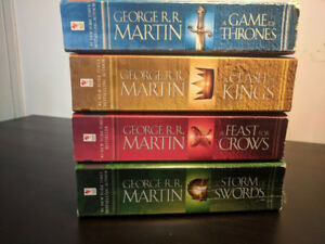 Game of Thrones Books 1-4 **Worn/Used Condition**