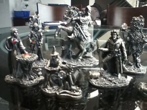 Original Lord of the Rings Tudor Mint pewter figurines
