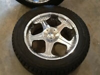 F-150 rims and hankook winter tires.