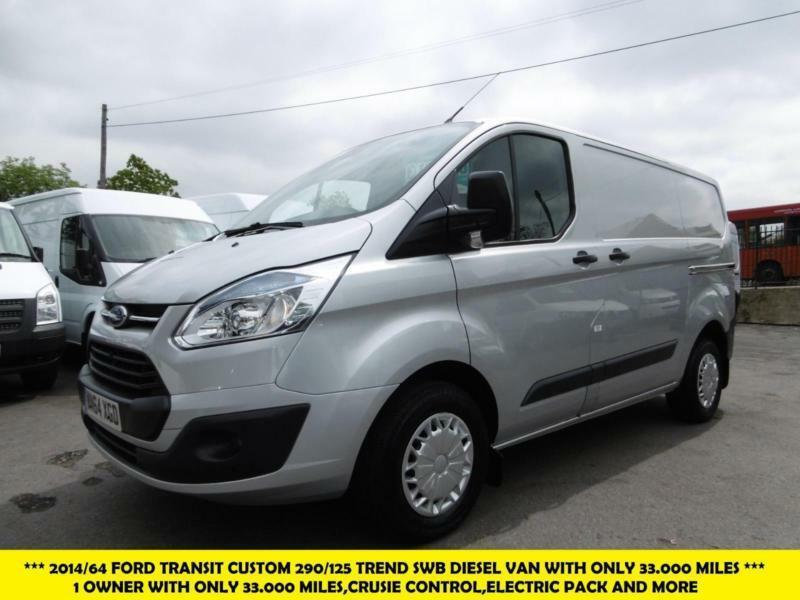 2014 ford transit custom 290 trend swb diesel van in silver with only mil in kingston. Black Bedroom Furniture Sets. Home Design Ideas