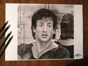 Sylvester Stallone pencil drawing