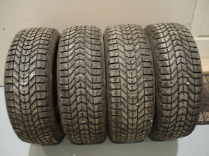 4 pneus hiver firestone winterforce 225/60/16 excellent 9.5/32
